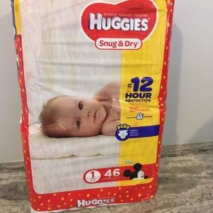 Diapers Huggies Size 1 for 8 to 14 pounds